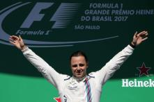 Felipe Massa Bids Farewell to Brazilian Fans From the Podium