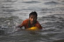 Rohingya Boy Can't Swim, But Floats on Oil Container to Bangladesh