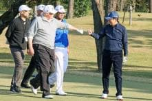 Shinzo Abe Duels With 'Long Hitter' Donald Trump on Golf Course