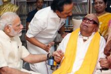 PM Modi Visits Karunanidhi, Enquires About Health