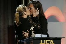 This Photo of Kate Winslet, Allison Janney Sharing Onstage Kiss Is Breaking The Internet