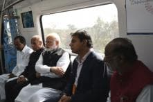 Hyderabad Metro Launch: PM Modi Flags Off 30-km Rail Link, Takes First Ride