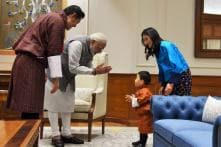 When Prime Minister Narendra Modi Gifted Bhutan's Prince a Football
