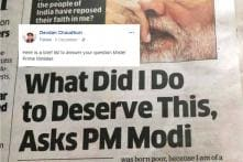 Author Has A 22-Point Reply To PM Modi's 'What Did I Do To Deserve This' Question