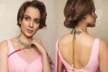 Kangana Ranaut Looks Resplendent In A Pink Floral Saree, See Pic