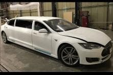 Enjoy Christmas And New Year 2017 in This Tesla Model S Limousine