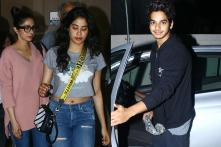 Janhvi Kapoor & Family Enjoy a Movie with Ishaan Khatter
