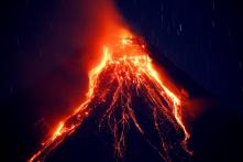 Japan Volcano Featured in James Bond Movie Erupts, Ejecting Smoke and Rocks