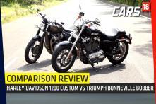 Triumph Bonneville Bobber vs Harley Davidson 1200 Custom Review (Comparison) | Cars18