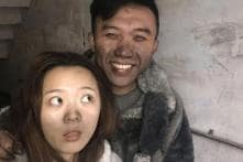 This Chinese Couple Took Selfies After Fire Ravaged Their Home