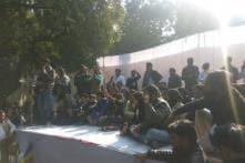 Jignesh Mevani's Hunkar Rally Underway in Delhi's Parliament Street Amid Heavy Police Presence