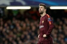 Barcelona's Pique in the Clear for Derby Celebration