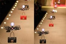 Drones Flew Creations Down The Ramp At Milan Fashion Week