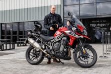 Prince William Rides in to Visit Triumph Motorcycles Factory in Hinckley