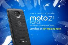 Motorola Moto Z2 Force With 'Shatterproof' Display, Moto Mods to Launch on Feb 15