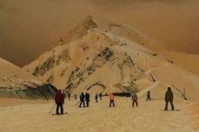'Like Skiing on Mars': Snow Turns Orange in Eastern Europe