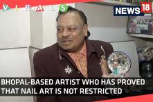 Watch: Bhopal Artist Paints Portraits of Celebrities of his 4.5 Inch Long Thumb Nail