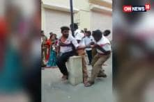 Watch: Chennai: Traffic Cops Tie Up Young Man to Pole, Brutally Thrash Him For Not Wearing Helmet