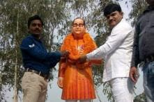 'Saffron' Ambedkar Statue Installed in Uttar Pradesh's Badaun, Opposition Cries Foul