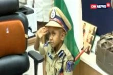 A-6-Year Old Turns Top Cop For A Day
