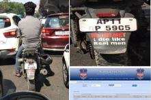 Hyderabad Police Shines on Facebook Again, Warns Motorcycle Rider Without Helmet in Style