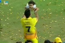 MS Dhoni Celebrates IPL Title With Family, Thanks Mumbai for Support
