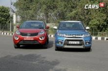 Maruti Suzuki Vitara Brezza vs Tata Nexon SUV Comparison Review – Watch Video