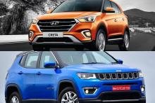 2018 Hyundai Creta Facelift Vs Jeep Compass - Specs, Price, Features and Which One is a Better SUV?