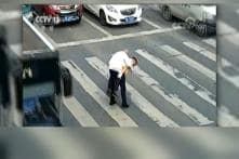 Cop Carries Senior Citizen