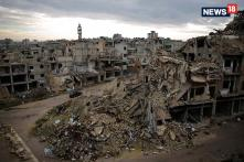 People Return To Homs  After Conflict Ends