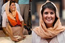 US Envoy Nikki Haley Performs 'Kar Seva' at Delhi's Gurudwara