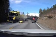 Brutal Head-On Truck Crash Proves Why Volvo Cars are so Safe, Driver Walks out Safe [Video]