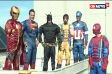 Watch: Superheroes' To Cheer Up Kids