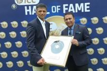 Sunil Gavaskar Presents Cap to Rahul Dravid to Formally Welcome Him Into ICC Hall of Fame
