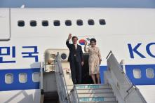 South Korean President Moon Jae-in Arrives in India on Maiden Visit