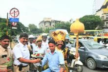 Lord 'Yamraj' on Bengaluru Roads to Spread Awareness About Traffic Rules, Road Safety