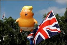 Britishers Mock The Donald with Snarling Orange 'Trump Baby' Blimp Outside Parliament