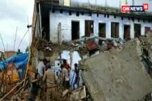 Building Collapse Due To Rain in UP