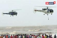 Navy Flies Over Chowpatty Beach To Search For Missing Boys