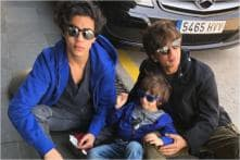 Shah Rukh Khan and His Two 'Vices' Aryan & AbRam Soak Up The Sun in Barcelona; See Photos