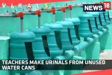 Teachers Make Urinals From Unused Water Cans