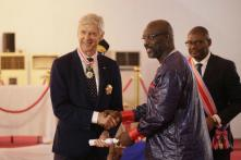 President George Weah Presents Honours to Former Coaches Arsene Wenger and Claude LeRoy