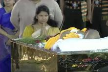 Karunanidhi Burial at Marina LIVE: Dravidian Icon Laid to Rest Next to Anna and Amma, Chennai Bids Teary Farewell