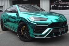 Lamborghini Urus Gets Even More Special with Turquoise Chrome Full Body Wrap