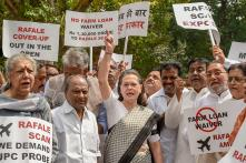 Congress Leader Sonia Gandhi Leads Protests Against Rafale Deal