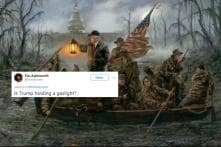 Crossing The Swamp: Twitter Made Memes Out of a 'Heroic' Painting of Donald Trump