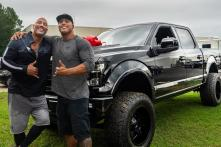 Dwayne 'The Rock' Johnson Buys His Cousin and Stunt Double a Custom Ford F150 Pickup Truck