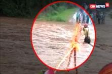 Man Washed Away by River