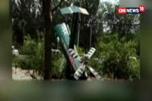 A Helicopter Crashed In China