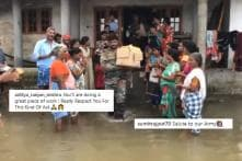 WATCH: As Indian Army Carry Medicines to Help the Affected, Kerala Residents Applaud Standing in Deep Water